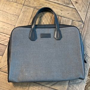 Audemars Piguet leather and herringbone laptop bag